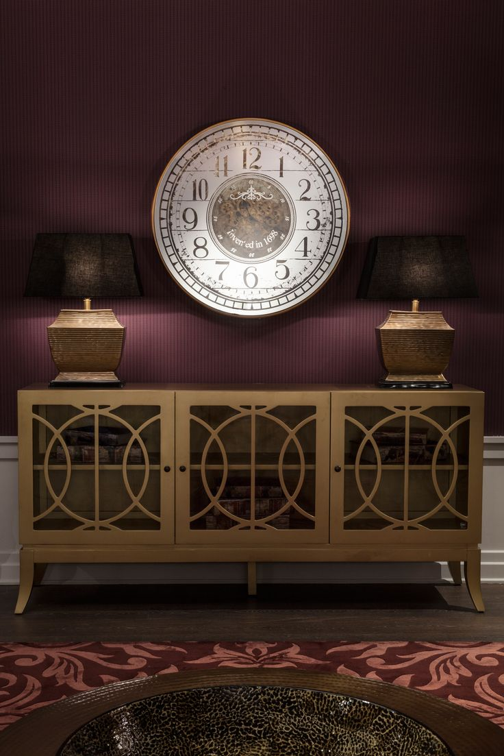 Living | Burlesque: Theatrical And Dramatic Burlesque Look With Oversized  Console, Wall Clock And