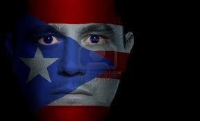 Puerto Rico Flag Painted on Face #Flag #Face #Paint