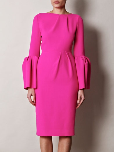 Pink bell sleeve dress. Perfect for Nice Meetings.
