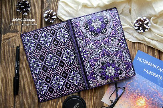 READY TO SHIP / Notebook Diary for notes Hand painted gift