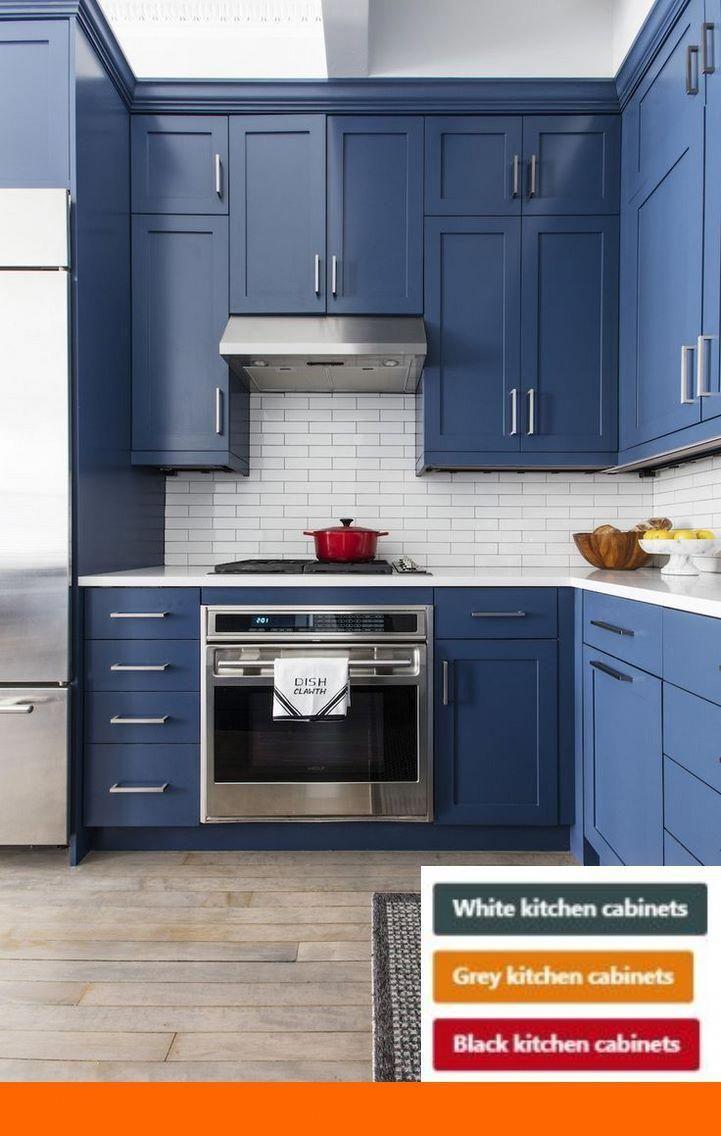 Kitchen Cabinets Painted Diy And Kitchen Cabinet Ideas In Nigeria Kitchencabinetsinnigeria Blue Kitchen Decor Kitchen Cabinets Blue Kitchen Cabinets