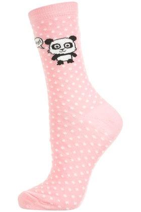 Adorable panda spot socks