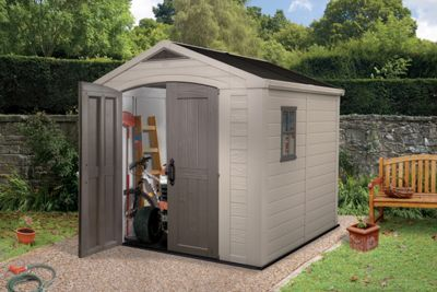 Buy Keter Apex Plastic Garden Shed - 8 x 8ft at Argos.co.uk, visit Argos.co.uk to shop online for Sheds