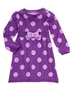 Bow Dot Sweater Dress