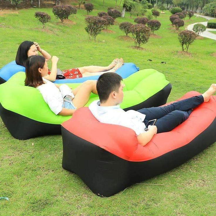 Inflatable Hangout Air Lounger  #treat #yourself #camping #survival #amazingpeople #tents #backpacks #summertime #treatyourself #excursions