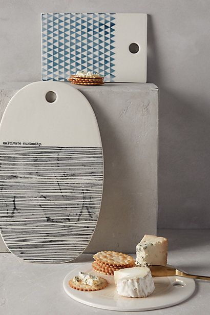 Sketch Palette porcelain cheese boards from Anthropologie