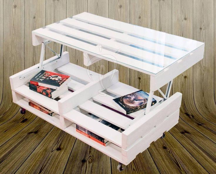 25 best ideas about mesa elevable en pinterest mesa - Como hacer una mesa con palets ...