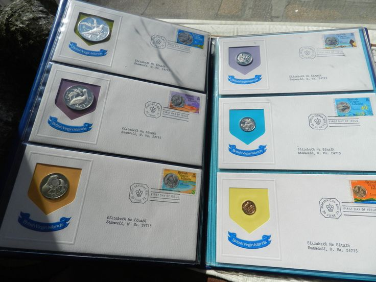 Vintage 1973  British Virgin Islands First Proof Coins and First Day Cover-Complete Set of 12 by CircaDesign on Etsy