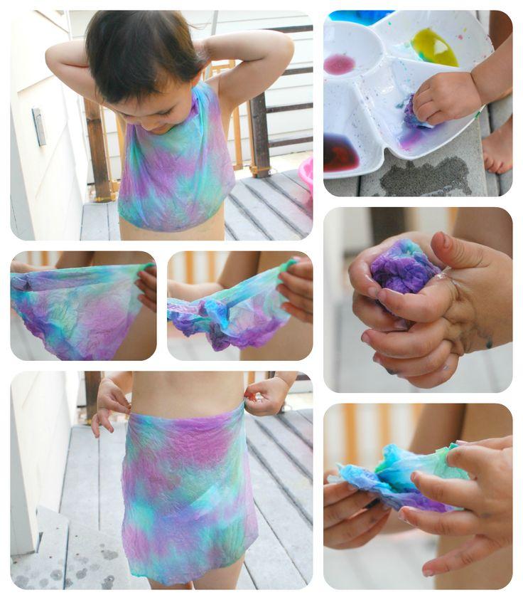 Art For Kids Food Coloring Tie Dye