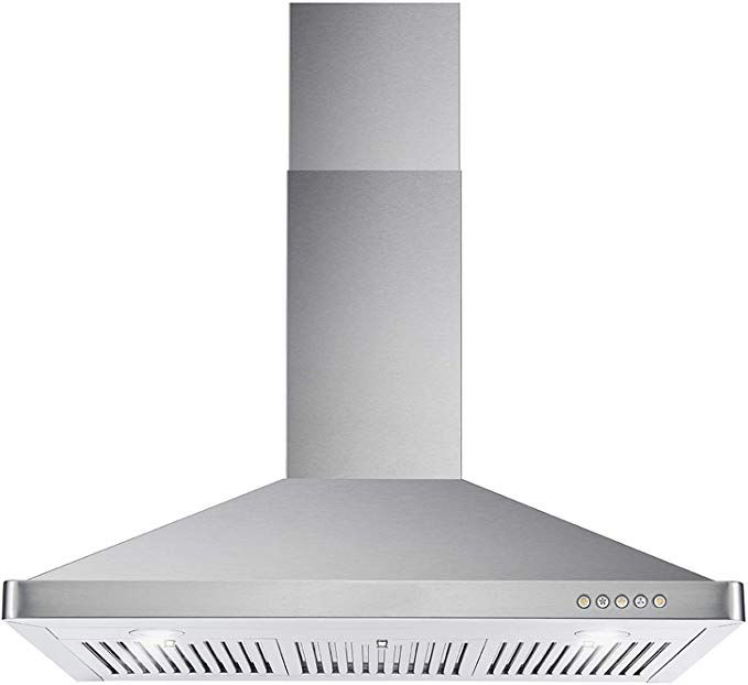 Amazon Com Cosmo 63190 36 In Wall Mount Range Hood 760 Cfm Ducted Ductless Convertible Duct Kitchen Chimney Stove Vent Wall Mount Range Hood Range Hood