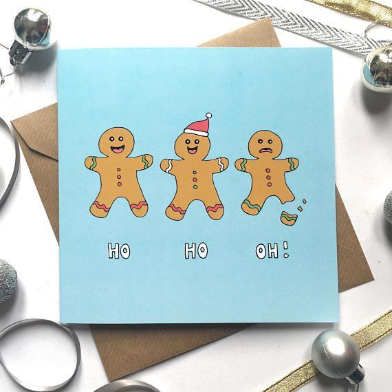 Pun Christmas Card Funny Christmas Card Gingerbread