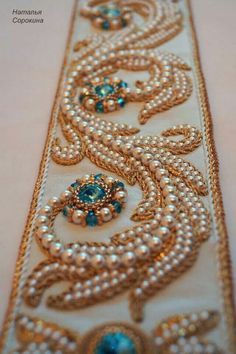 Ideas for creativity – Russian embroidery with pearls (17 pictures) | http://wonderdump.com/ideas-for-creativity-russian-embroidery-with-pearls-17-pictures/