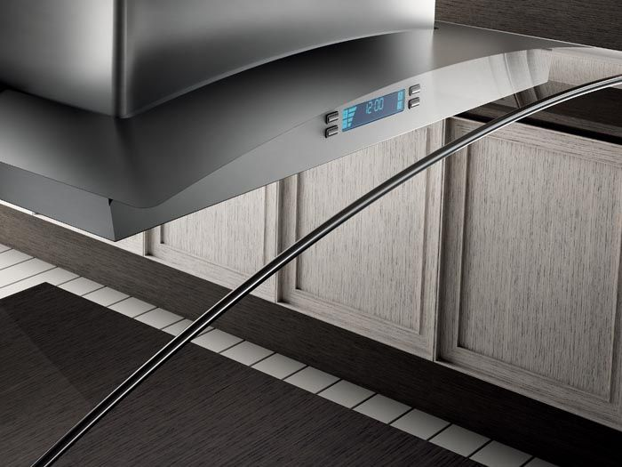 CINGOLI - Designed to be suspended above a kitchen island, this hood takes…