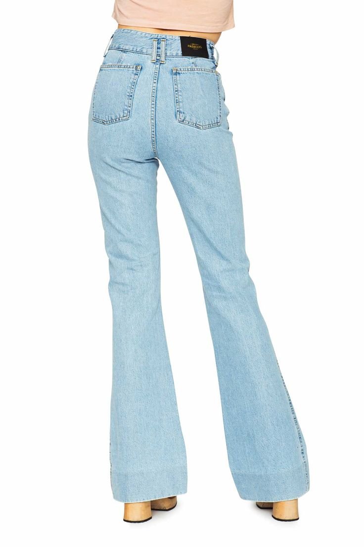 Swedish Hasbeens HasJeans Flare Jeans Light Denim