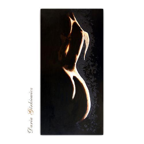 Narodziny anioła - olej na płycie
