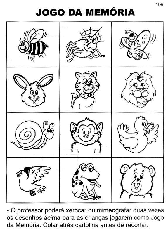 40 Jogos Da Memoria Para Imprimir Educacao Infantil E Maternal Online Cursos Gratuitos Educacao Infantil Projeto Animais Educacao Infantil Alfabetizacao Na Educacao Infantil