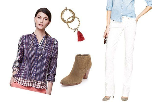 Six Non-Country-Club Ways to Wear White Jeans : Lucky Magazine