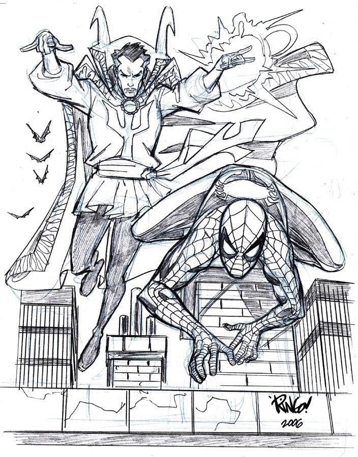 SPIDER-MAN and DOCTOR STRANGE by Wieringo on DeviantArt