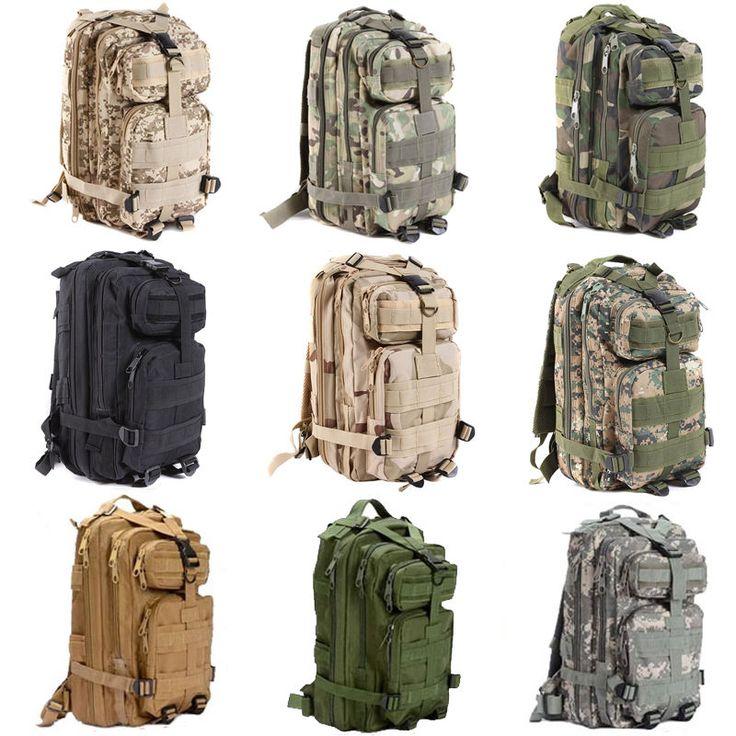 Grote capaciteit 30l wandelen camping bag militaire tactical trekking rugzak rugzak camo