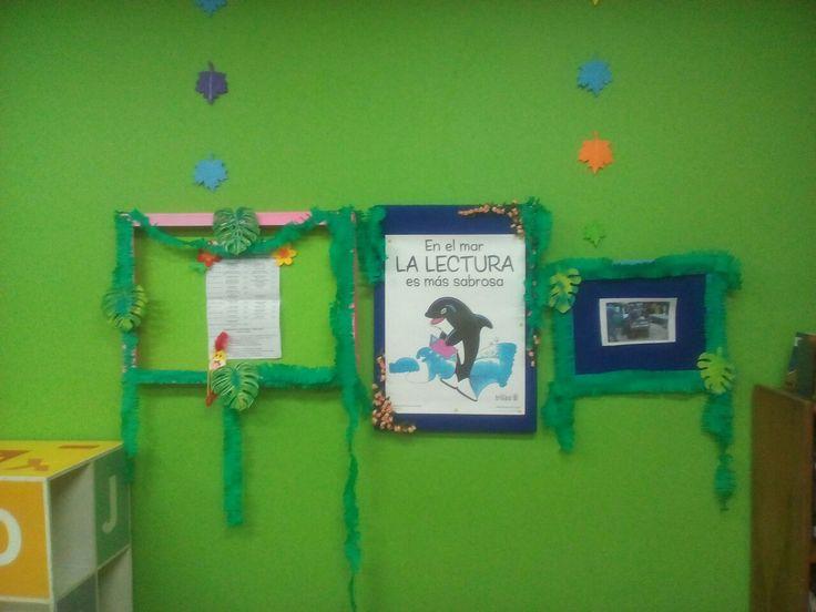 Marcos  informativos  tipo selva, para el aula de clases o sala infantil de bibliotecas