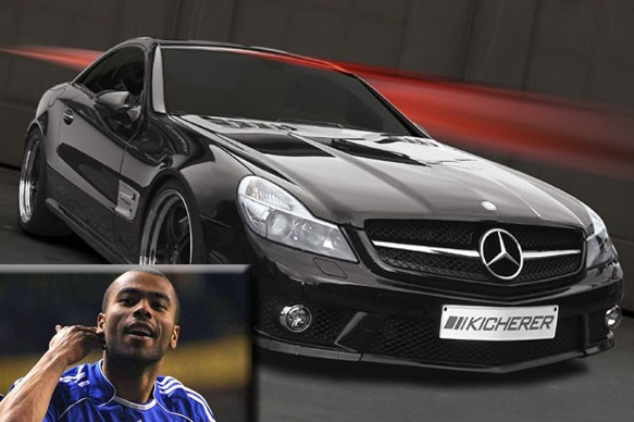 Ashley Cole - a Mercedes SL63, which was custom painted in a matte black finish making it look especially ominous.