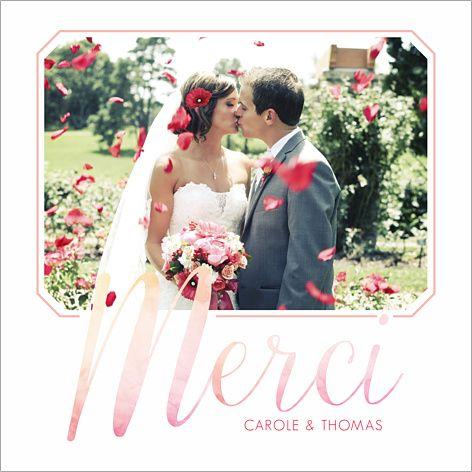 Carte de remerciements de mariage : Aquarelle à personnaliser sur http://www.popcarte.com/cartes-flash/carte-remerciements/remerciements-mariage-aquarelle.html