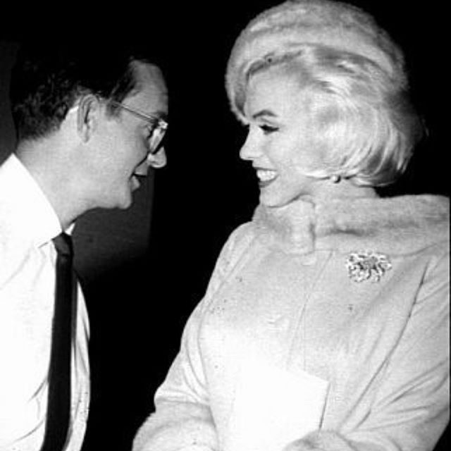 """Wally Cox & Marilyn Monroe - """"Something's Got to Give"""" 1962"""