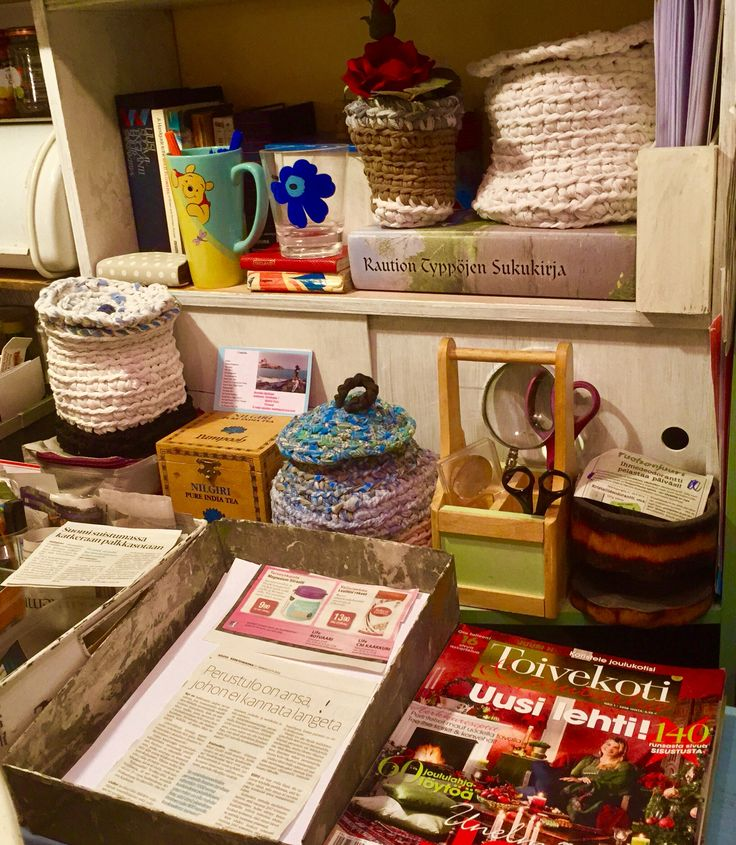 Crochet Office Corner designed and Made by Findian Annikki Matthan. See Facebook Page Art of Crochet.