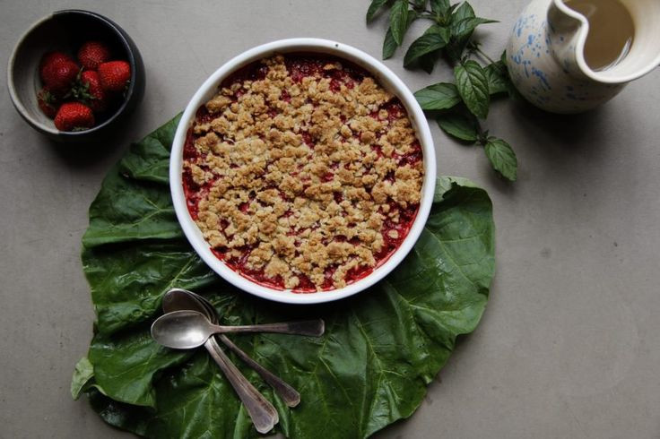 Glutenfri rabarberpaj