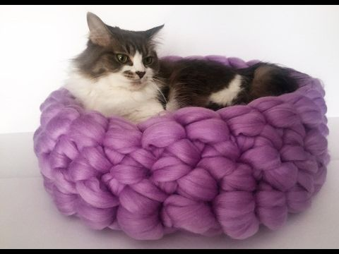 How to make your own cat bed in less than 30 minutes! - YouTube
