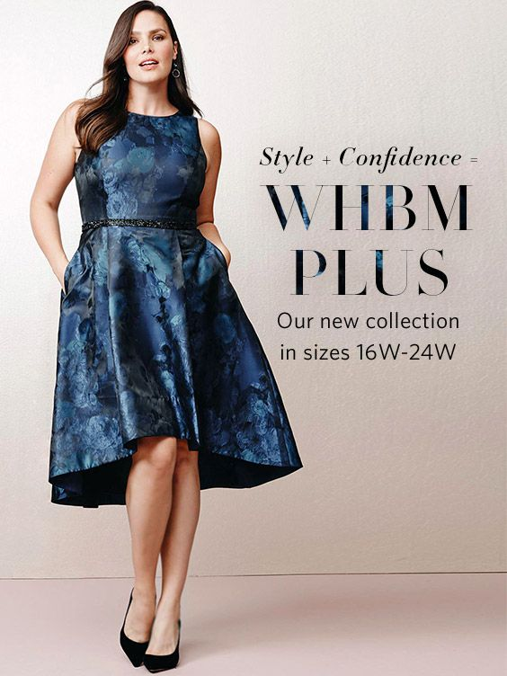 Have you heard the news? Our new WHBM Plus Collection is in–just in time for the holidays. From casual of-the moment pieces (embellished denim) to workwear separates (jackets & matching pencil skirts or pants) to holiday looks (jacquard dresses to sequin skirts)–this collection brings the style, you bring the confidence. | White House Black Market