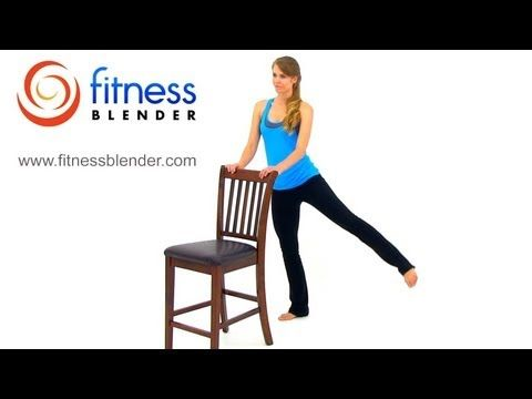 New 21 Minute Barre Workout for Butt and Thighs - Workout for Lean Legs and Toned Butt