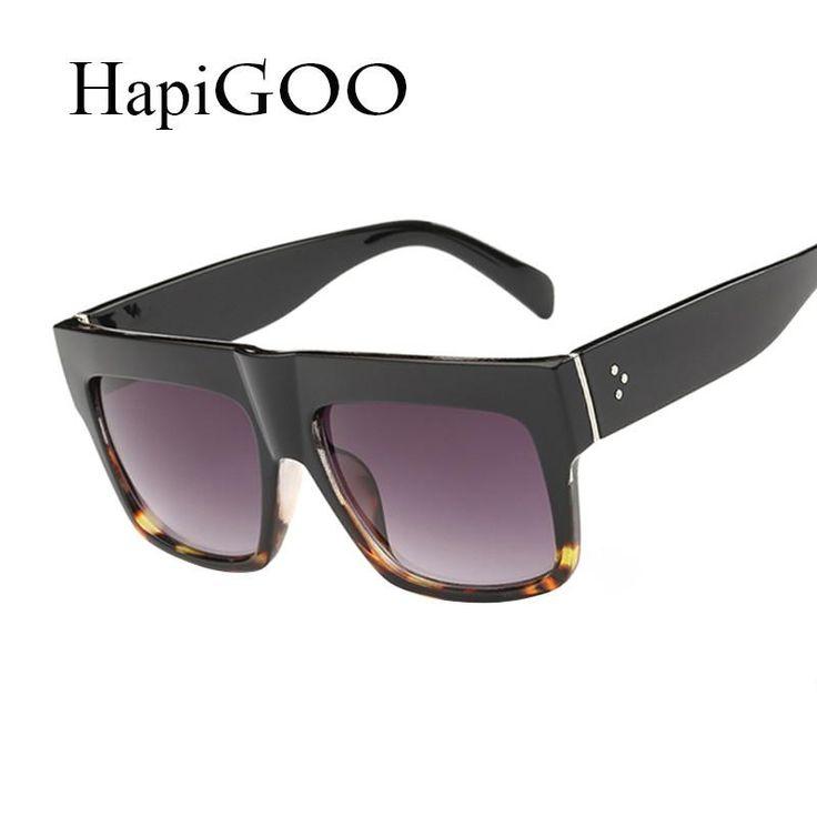 HapiGOO New Fashion Square Big Frame Sunglasses Women Men Famous Brand Design Vintage Flat Top Mirror Sun Glasses 2016 Oculos  #ootd #beautiful #fashion #fashionista #instastyle #swag #shopping #stylish #streetstyle #beauty