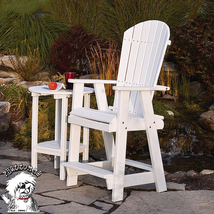 Phat Tommy Recycled Poly Adirondack Patio Bar Stool