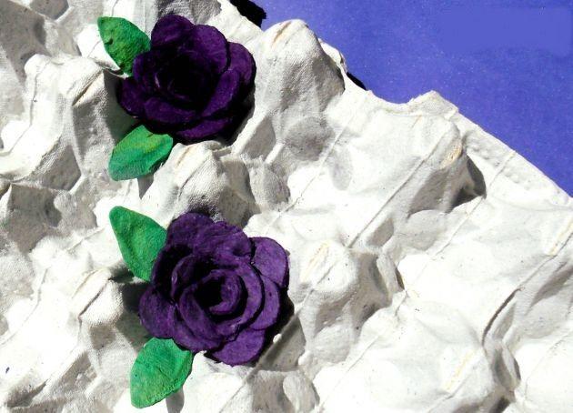 Lindas Flores de carton de Huevos - Manualidades de Reciclaje | Un Mundo de Manualidades