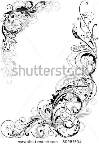 Swirl floral design by Milen , via Shutterstock