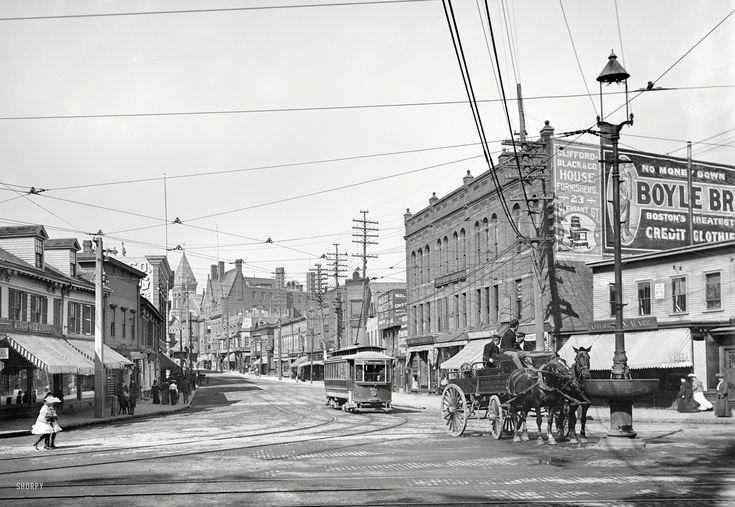 (c. 1906) Pleasant Street from Malden Square - Malden, Massachusetts