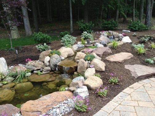 Small Backyard Pond Designs backyard waterfalls pond re design a pond gone wrong turned around by the pond diggers Small Backyard Ponds Ny Waterfall Ponds And Large Swimming Ponds In Rochester Ny By Acorn