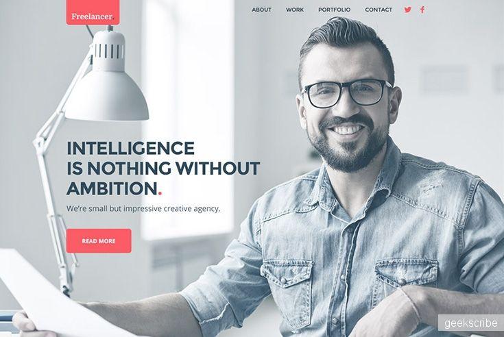Шаблон сайта портфолио Free PSD / Web desgin / Yagiro - сайт о дизайне и для дизайнеров