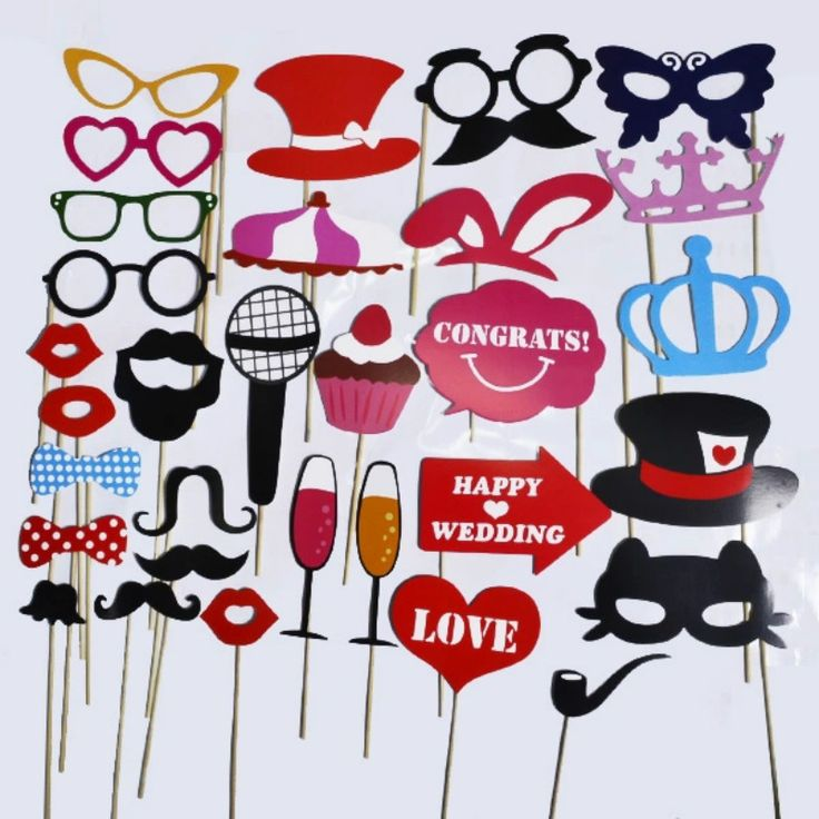 1Set 31pcs Photo Booth Props Glasses Mustache Lip Hat On A Stick Wedding Party Favor Fun Color Mask Birthday Decor-in Party Favors from Home & Garden on Aliexpress.com | Alibaba Group