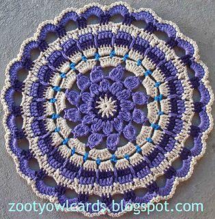 Dahlia Mandala ~ free pattern