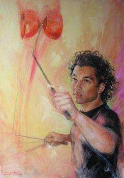 Milo - Vrij werk - Evert Ploeg  (gemaakt in 2009 naar aanleiding van het 60 jarig bestaan van Circus Elleboog en de Kunstlijn te Haarlem)