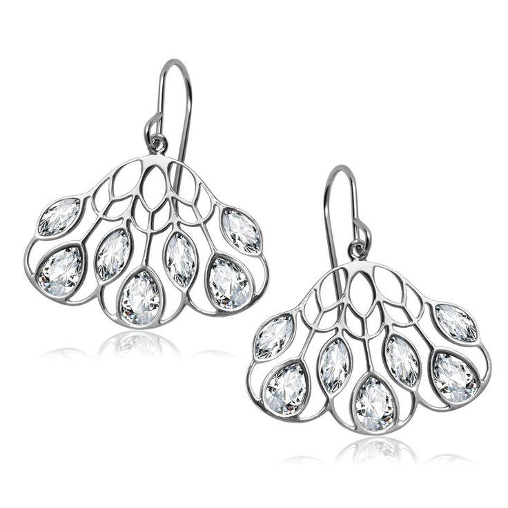 Pavoni - srebrne kolczyki (ACCL173 - 47626) z kategorii: Końcówki Kolekcji. Dostępny w cenie: 118PLN. Wygląd: Srebro; Kryształ Swarovskiego