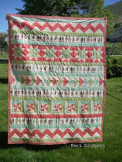 row by row quilt - a different kind of sampler quilt! :-)