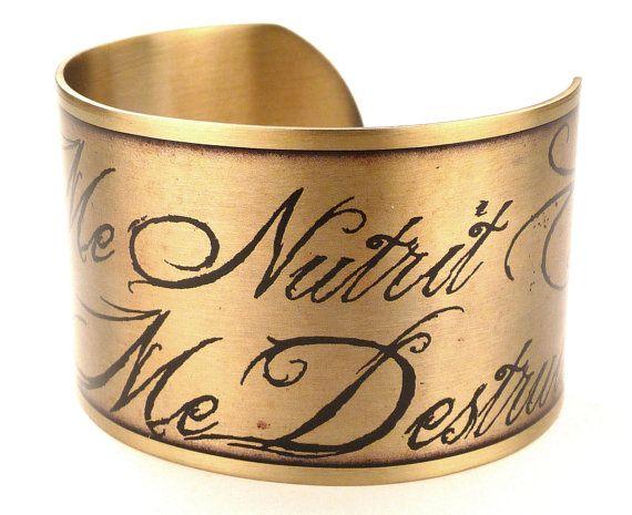 Quod Me Nutrit Me Destruit, Christopher Marlowe Quote Bracelet, Dr. Faustus