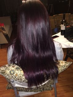 Purple red violet brown hair!