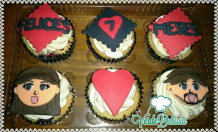 Cupcakes personalizados: sabor berries y vainilla