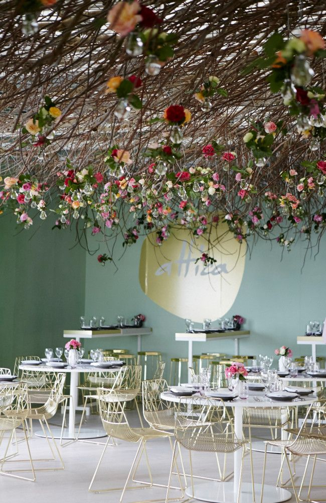 Inside the Melbourne Cup Carnival's Lexus Design Pavilion- we wouldnt mind eating here. :)
