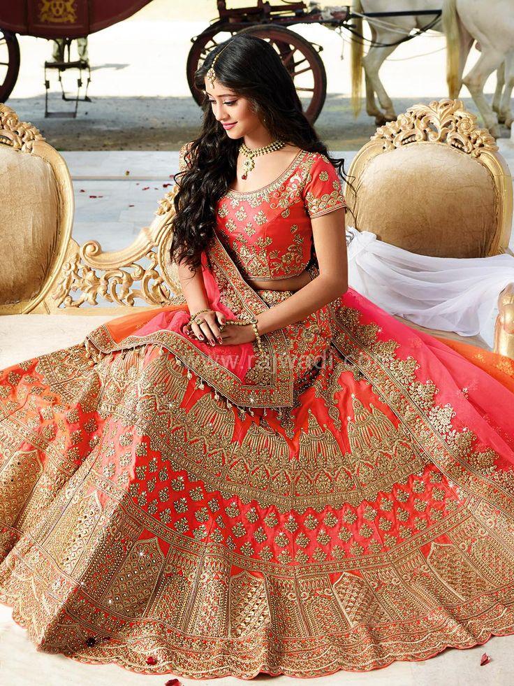 Orange Color Lehenga Choli worn by Shivangi Joshi....  #shivangijoshi #rajwadi #lehengacholi #weddingseason #weddingdress #embroidery #lehenga #ethnicwear #bridalwear #designerwear #onlineshopping
