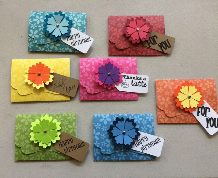 A personal favorite from my Etsy shop https://www.etsy.com/listing/235405292/gift-card-holders-set-of-7-includes-7